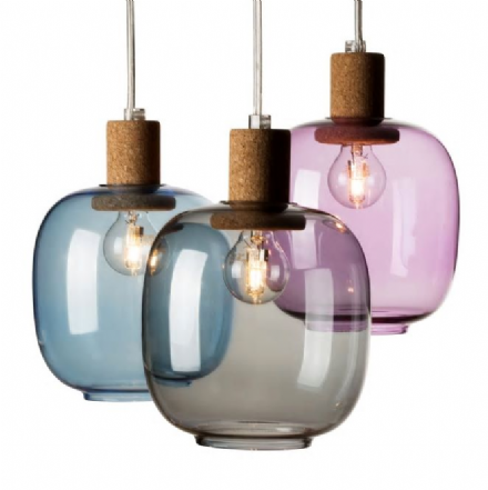 Picia Glass & Cork Pendant Lamp